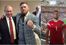 Conor McGregor s-a întâlnit cu Vladimir Putin la finala Cupei Mondiale. La meci a participat și Khabib (VIDEO)